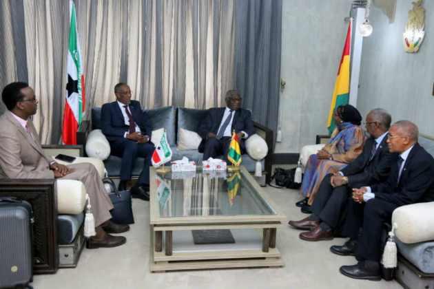 Somaliland president Muse Bihi Abdi (left) received a warm reception