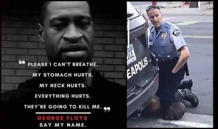 George Floyd Can'T Breathe Riots In Us Slam Police Racism