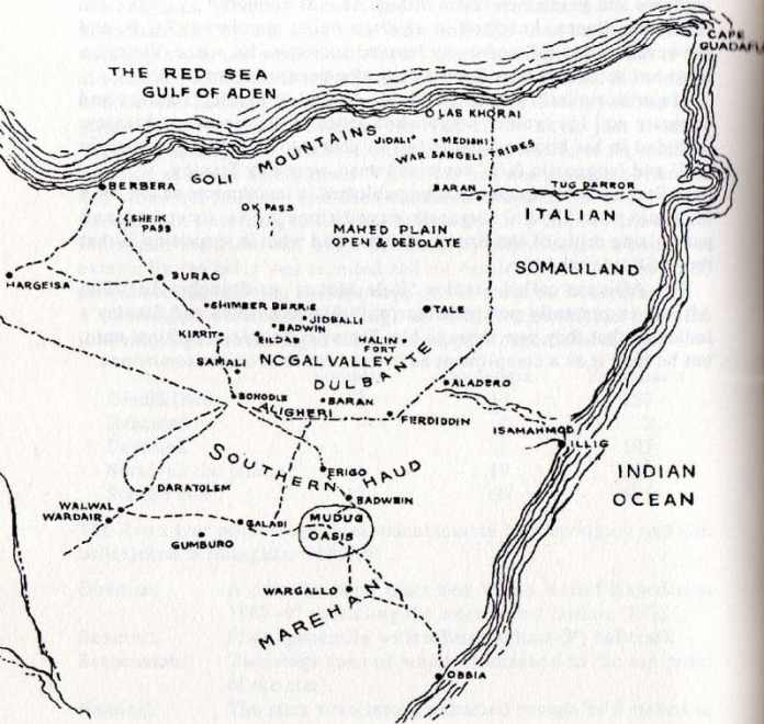 Battle ground map in Somaliland