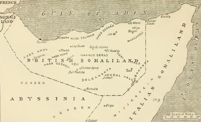 Left: A map showing the strategic importance of Somaliland