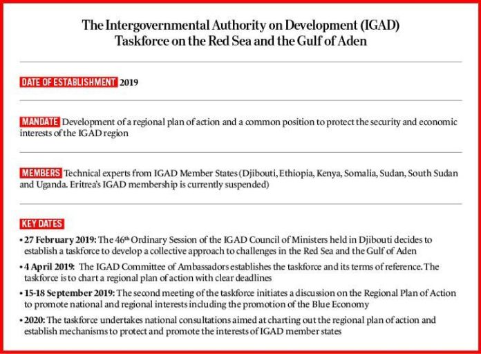 IGAD taskforce on the Red Sea and the Gulf of Aden