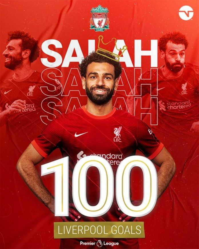 Salah Records 3 New Historical Figures With 100th Premier League Goal