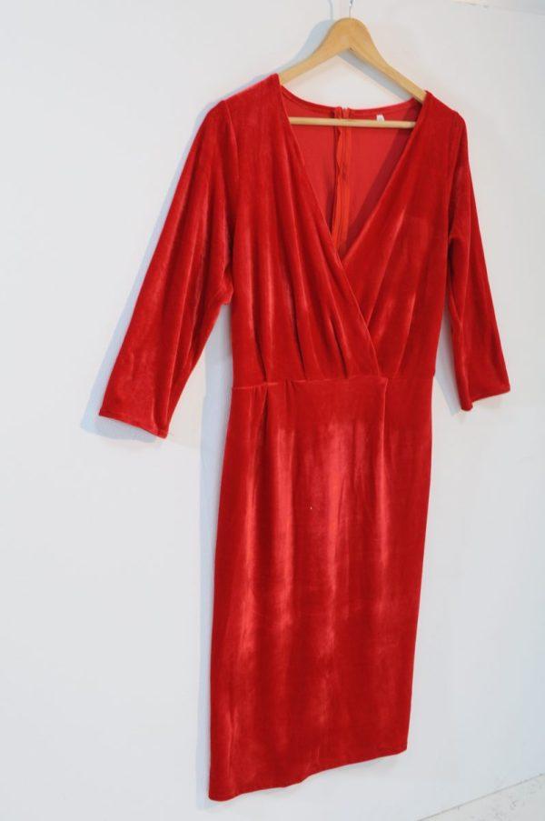 Rochie catifea rosi
