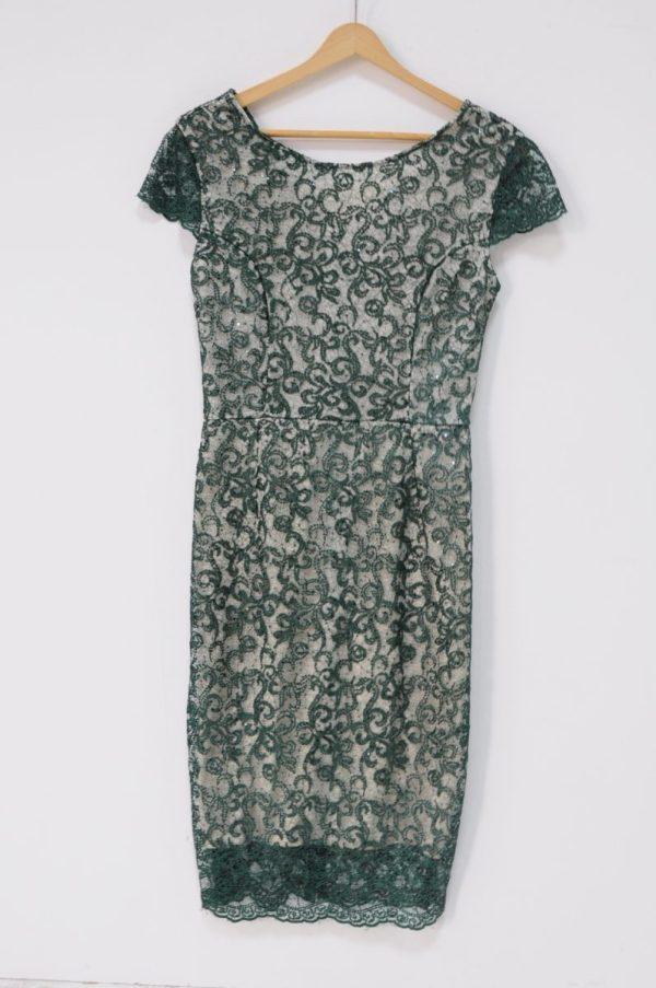 Rochie dama verde cu dantela