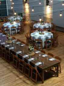 A Blend of Farm Tables and Round Tables in Haw River Ballroom