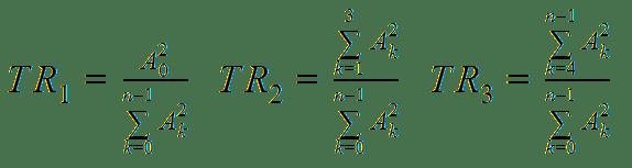 Tristimulus equations