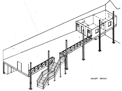 Plans for the new staircase