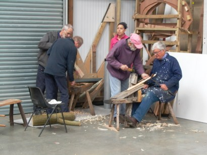 Making double treenails out of willow