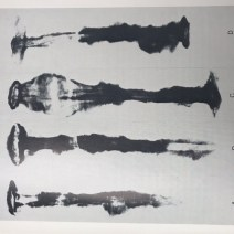 Xray images of the rivets retrieved from the ground