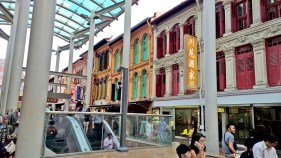 the building facades & colours are so interesting