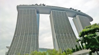 the 3 towers of Marina Bay Sands hotel