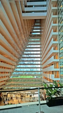 when walking from Gardens by the Bay towards the mall of Marina Bay Sands, you get to enter the hotel building. it looks cool from inside!