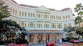 ... the luxurious hotel, Raffles Hotel.