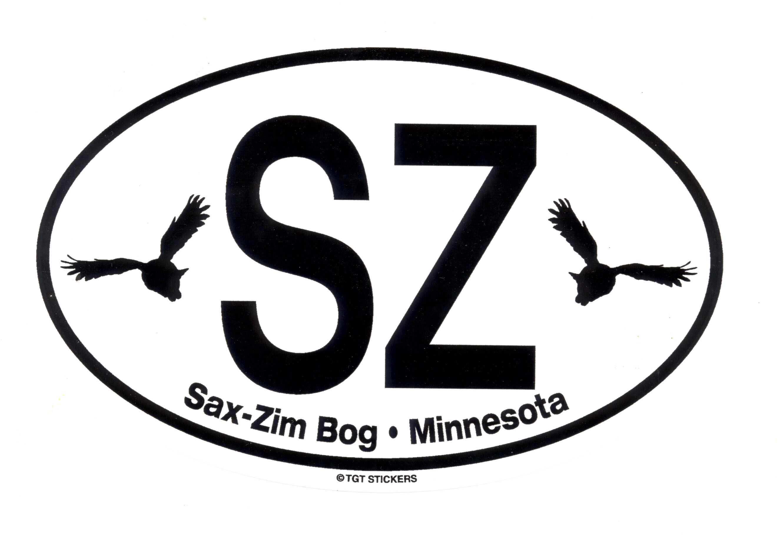 "Sticker-Oval European ""SZ"" : Friends of Sax-Zim Bog"