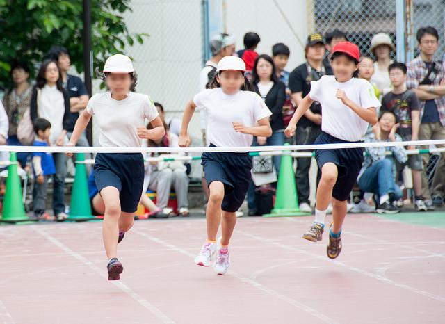 小学校での最後の運動会