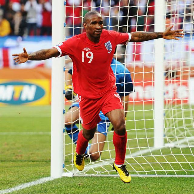 Jermain Defoe scored against Slovenia at the 2010 World Cup
