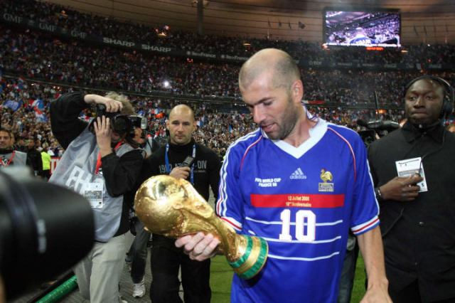 Zidane scored two goals in the 1998 World Cup final