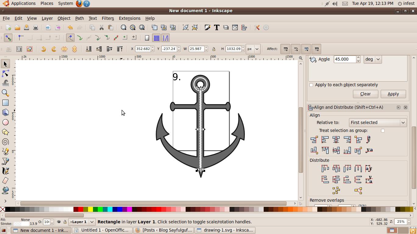 Menggambar Jangkar Menggunakan Piranti Lunak Inkscape