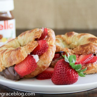 Grilled Nutella & Cheese Croissant