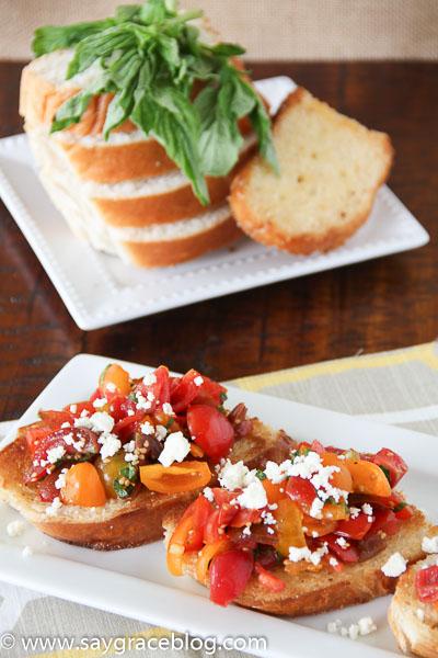 East Heirloom Tomato Bruschetta