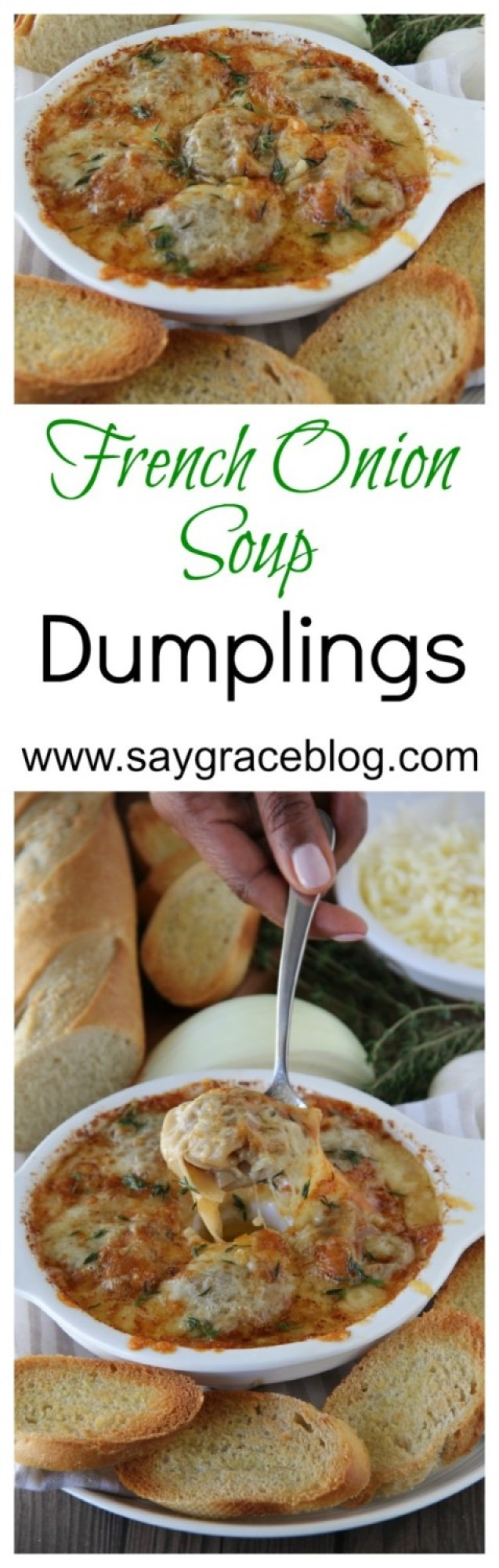 French Onion Soup Dumplings
