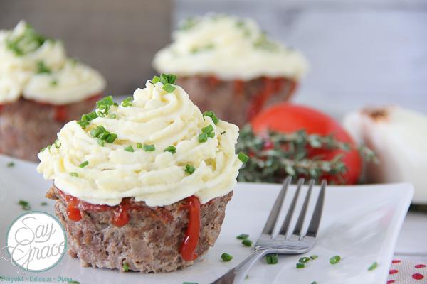 Savory Meatloaf Cupcakes