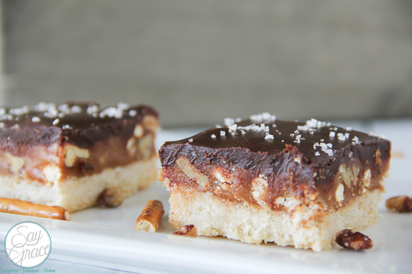 Salted Caramel Shortbread Bars | Say Grace