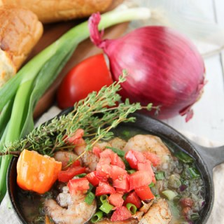 Skillet Simmered Jerk Shrimp {Bahama Breeze Copycat}