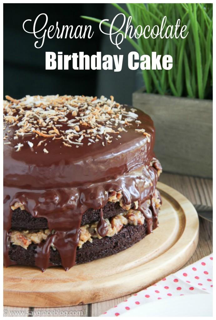 German Chocolate Birthday Cake