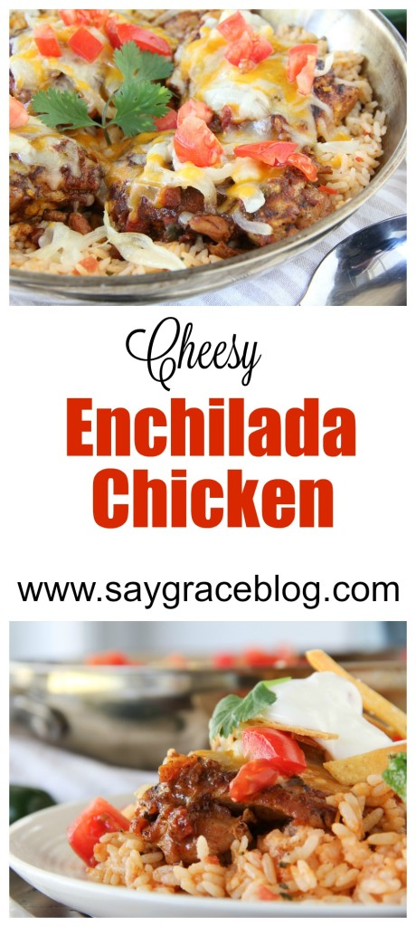 Cheesy Enchilada Chicken & Rice