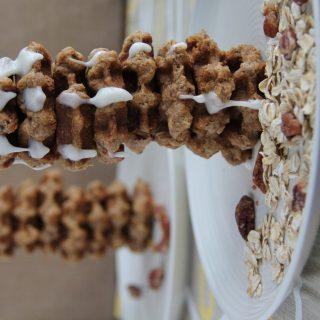 Oatmeal Pecan Waffle Cookies