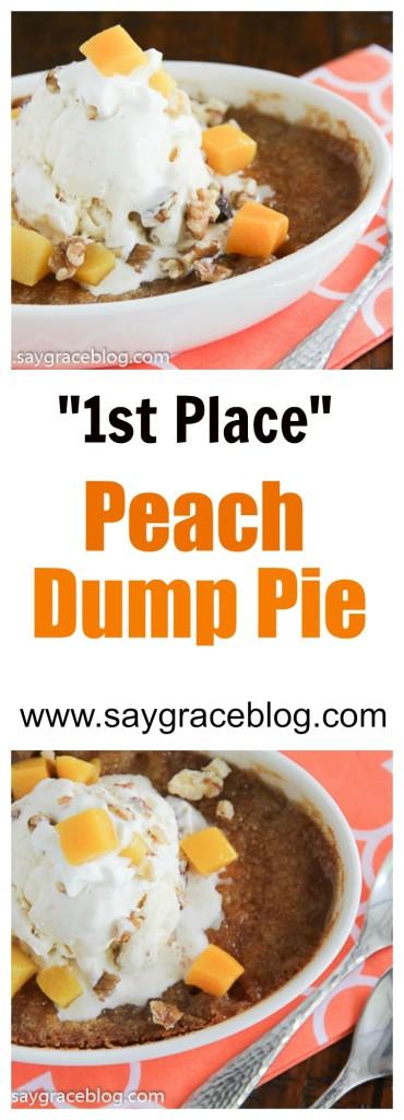 Peach Dump Pie