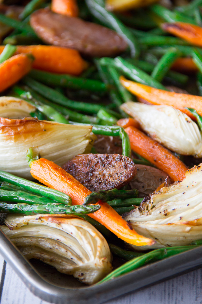 Roasted Spring Veggies