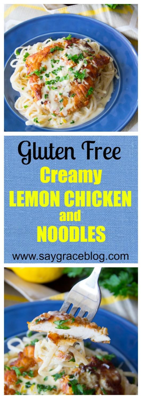 Creamy Lemon Chicken & Noodles