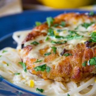 Gluten-Free Creamy Lemon Chicken & Noodles
