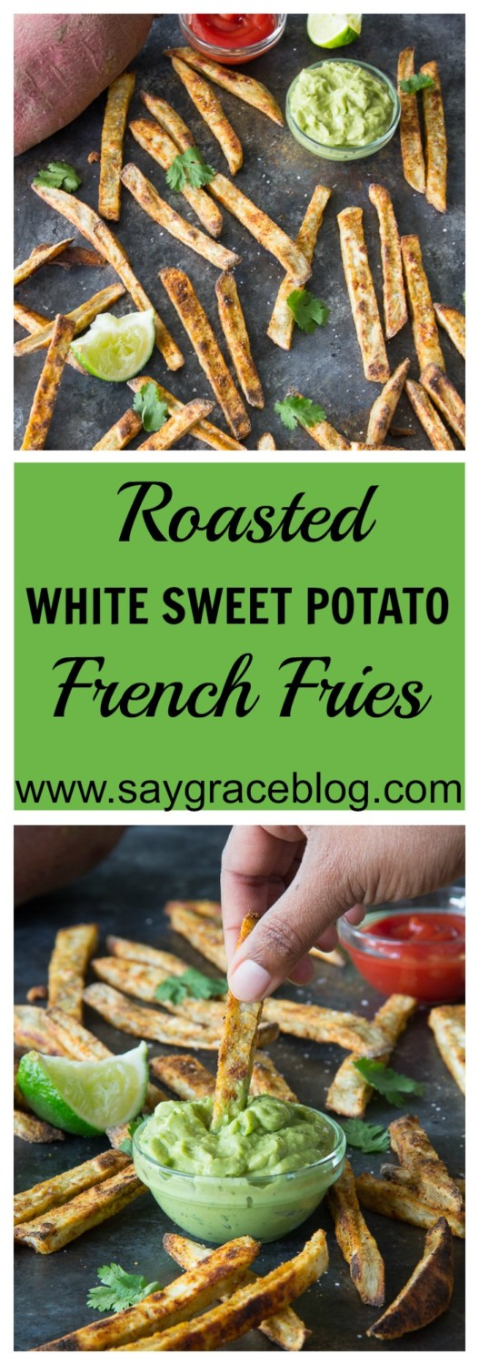 Roasted White Sweet Potato French Fries