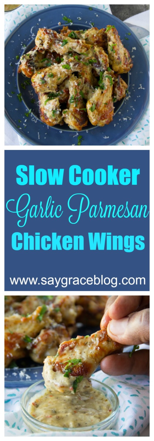 Slow Cooker Garlic Parmesan Chicken Wings