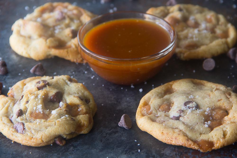 Salted Caramel & Chocolate Cookies