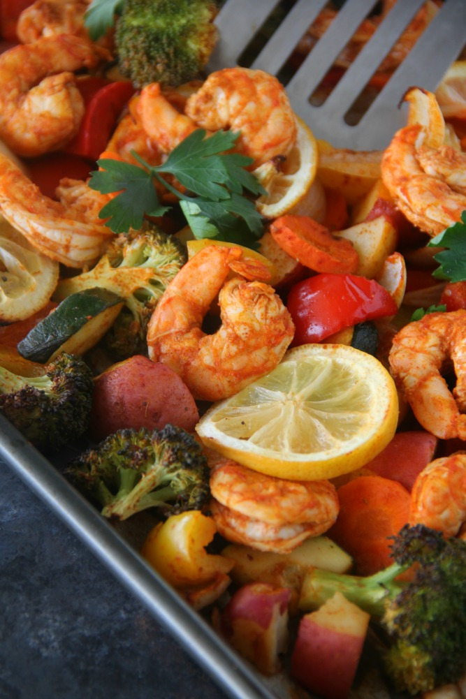 Sheet-Pan Roasted Shrimp & Veggies