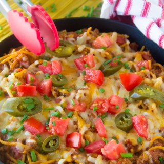 One Pot Taco Spaghetti Skillet