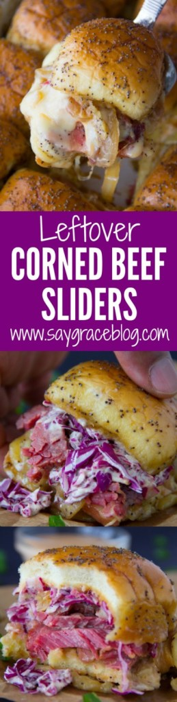 Leftover Corned Beef Sliders