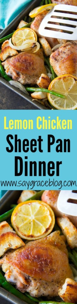 Lemon Chicken Sheet Pan Dinner with Croutons