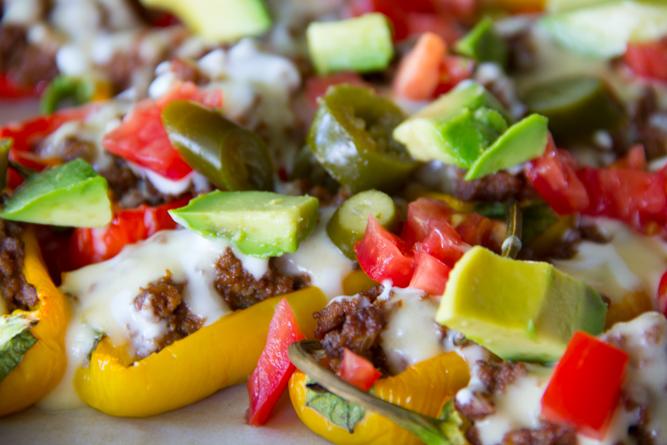 Nacho Stuffed Mini Sweet Peppers
