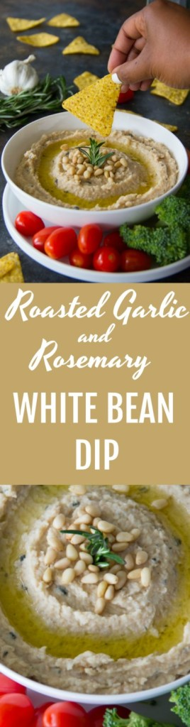 Roasted Garlic and Rosemary White Bean Dip