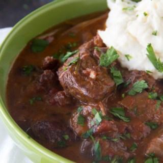 Beef Cacciatore {Gluten Free Beef Stew Recipe}