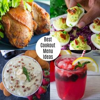 Best Cookout Menu Ideas