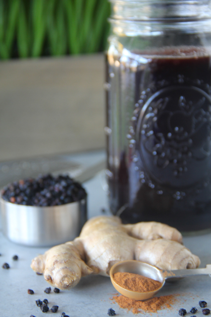 Pressure Cooker Homemade Elderberry Syrup