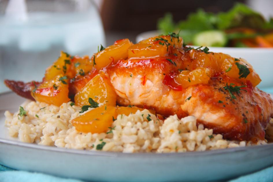 Pineapple Salmon {Pan Seared Sweet & Spicy Pineapple Salmon}