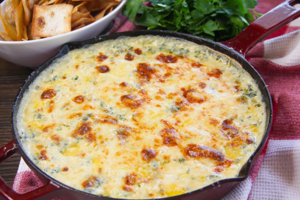 Spinach & Artichoke Dip With Lump Crab {Keto, Low Carb}