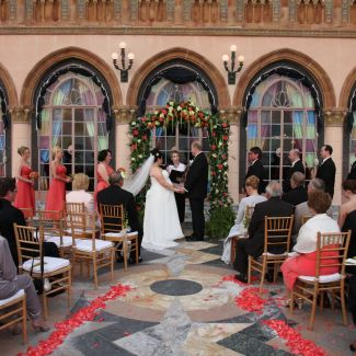 Wedding ceremony at the Ringling in Sarasota